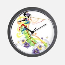 Oriental Girl Wall Clock