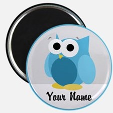 Funny Cute Blue Owl Magnet