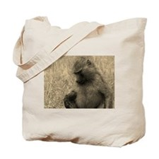 sepia thoughtful baboon Tote Bag