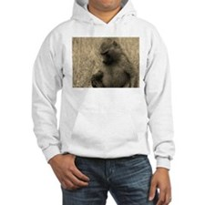 sepia thoughtful baboon Hoodie