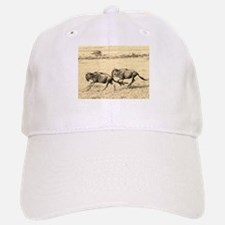 sepia wildebeest crossing kenya collection Baseball Baseball Cap