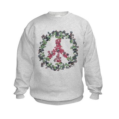 Yule Flower Peace Kids Sweatshirt