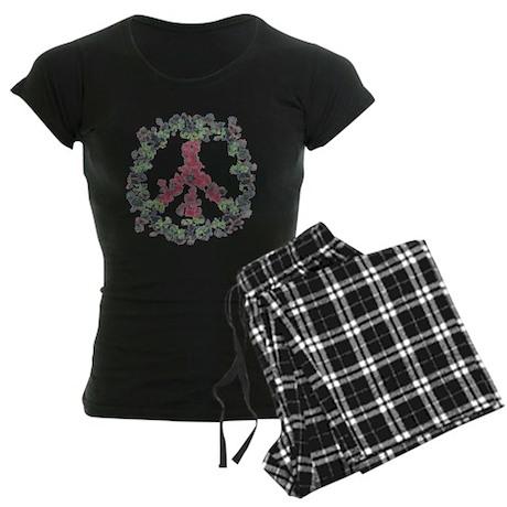 Yule Flower Peace Women's Dark Pajamas