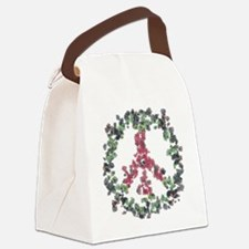Yule Flower Peace Canvas Lunch Bag