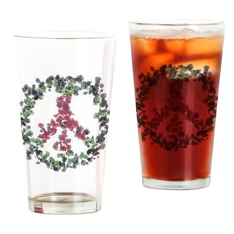 Yule Flower Peace Drinking Glass