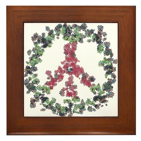 Yule Flower Peace Framed Tile