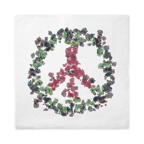 Yule Flower Peace Queen Duvet