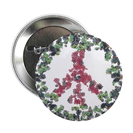 """Yule Flower Peace 2.25"""" Button (10 pack)"""