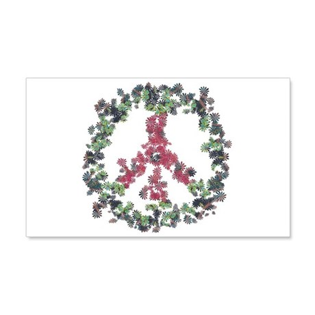 Yule Flower Peace 20x12 Wall Decal