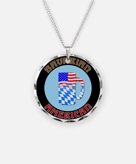 Bavarian American Beer Stein Necklace