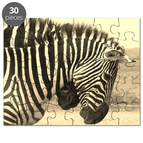sepia zebras play kenya collection Puzzle