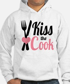 Sassy Pink and Black Kiss the Cook Hoodie