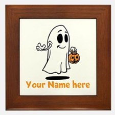 Personalized Halloween Framed Tile