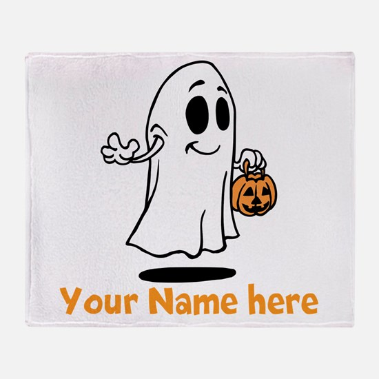 Personalized Halloween Throw Blanket