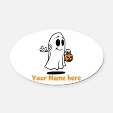 Personalized Halloween Oval Car Magnet