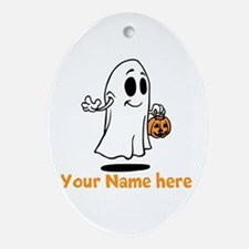 Personalized Halloween Ornament (Oval)