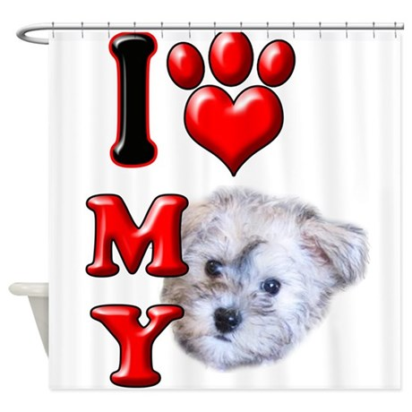 I Love My Schnoodle.png Shower Curtain