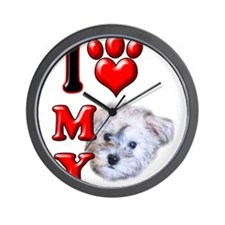 I Love My Schnoodle.png Wall Clock