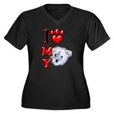 I Love My Schnoodle.png Women's Plus Size V-Neck D