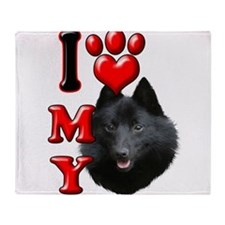 I Love My Schipperke.png Throw Blanket