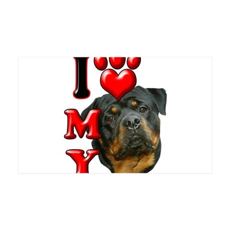 I Love My Rottweiler.png 35x21 Wall Decal