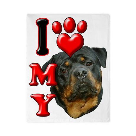 I Love My Rottweiler.png Twin Duvet