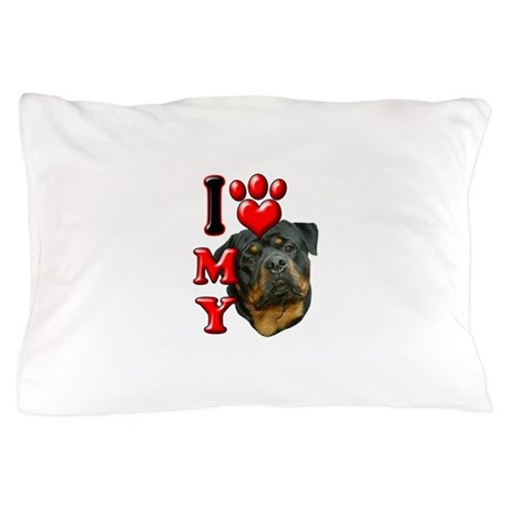I Love My Rottweiler.png Pillow Case