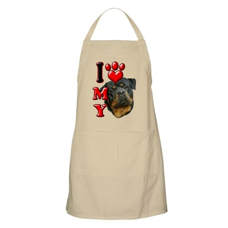 I Love My Rottweiler.png Apron