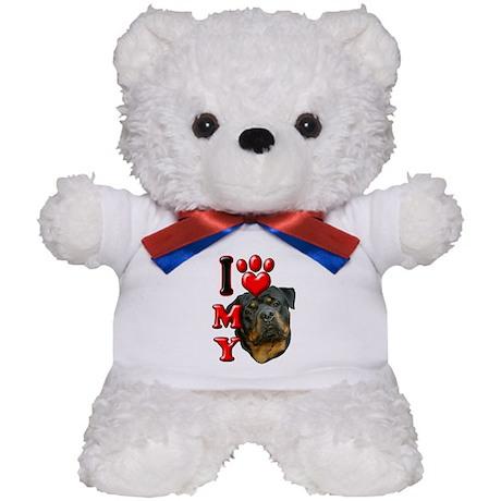 I Love My Rottweiler.png Teddy Bear