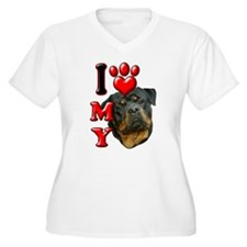 I Love My Rottweiler.png T-Shirt