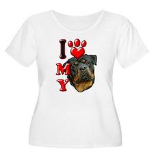 I Love My Rottweiler.png T-Shirt