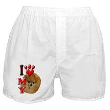 I Love My Pomeranian.png Boxer Shorts