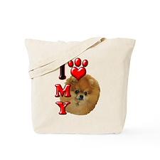 I Love My Pomeranian.png Tote Bag