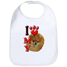 I Love My Pomeranian.png Bib
