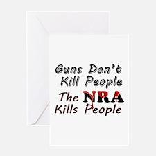 The NRA Kills People Greeting Card
