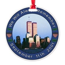 9/11 Ornament / Printed on Both Sides / Ceramic