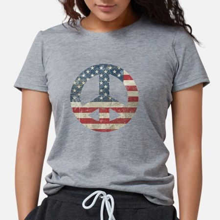USA Peace Womens Tri-blend T-Shirt