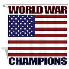 World War Champions Shower Curtain
