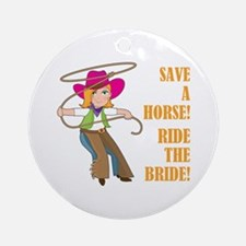 SAVE A HORSE! Round Ornament