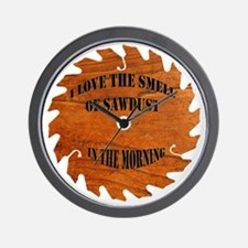 Sawdust in the Morning Wall Clock