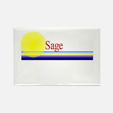 Sage Rectangle Magnet