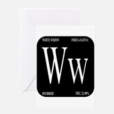 White Widow Black Greeting Card