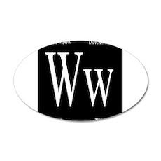 White Widow Black Wall Decal