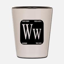 White Widow Black Shot Glass