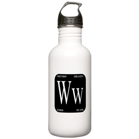 White Widow Black Stainless Water Bottle 1.0L