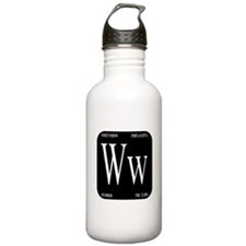 White Widow Black Water Bottle