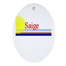 Saige Oval Ornament