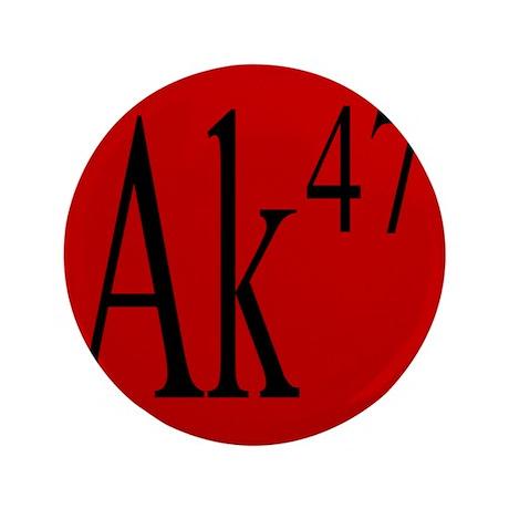 """AK-47 BLACK 3.5"""" Button (100 pack)"""