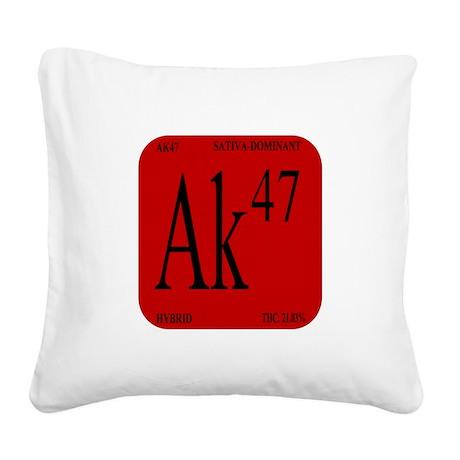AK-47 BLACK Square Canvas Pillow