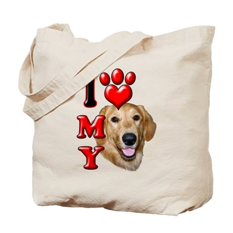 I Love My Golden Retriever.png Tote Bag